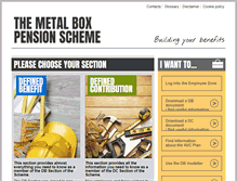 Tablet Preview of metalboxpensions.co.uk